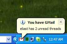 notificación de Gmail en el escritorio