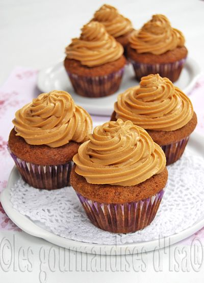 Cupcakes aux bananes et la cannelle gla age au dulce de leche - Recette de cupcake facile ...