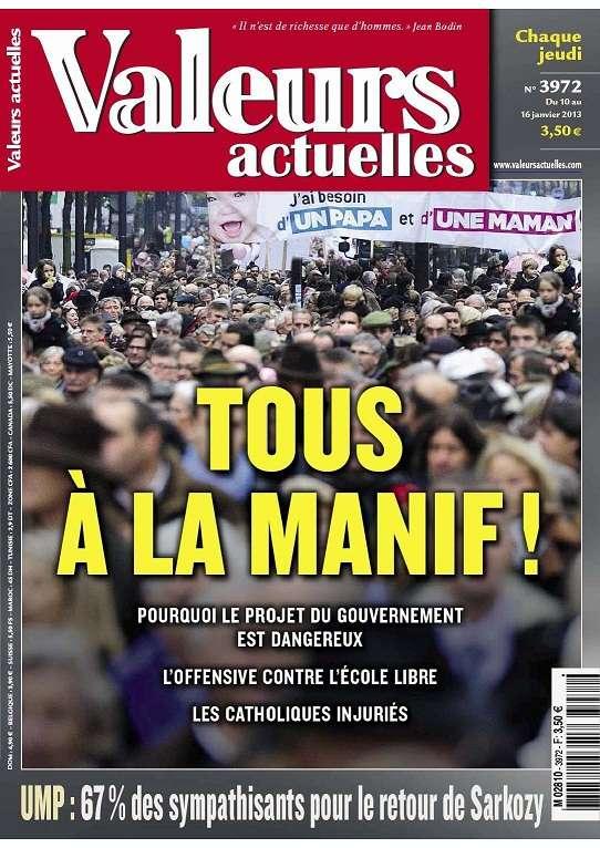 Valeurs Actuelles N°3972 du 10 au 16 Janvier 2013
